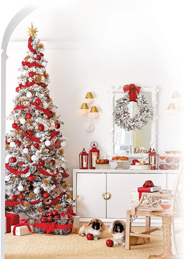 Holiday tree scenery